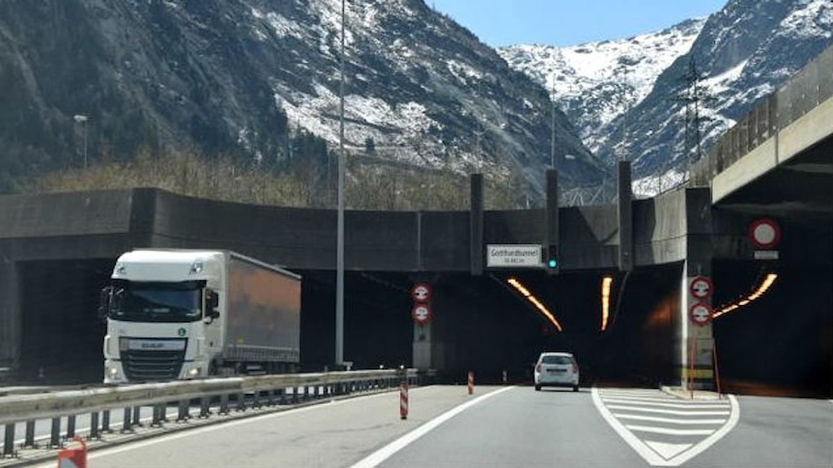 Infart i tunnel