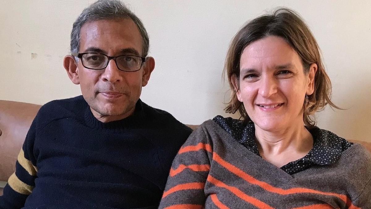 Esther Duflo och Abhijit Banerjee