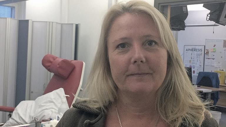 Camilla Lindgren i sjukhusmiljö