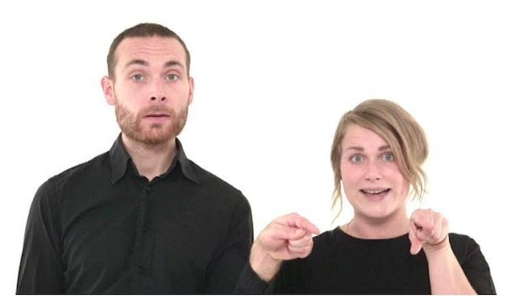 Jesper Rönndahl och Karin Gyllenklev. Foto: Nathan Grossman/SVT