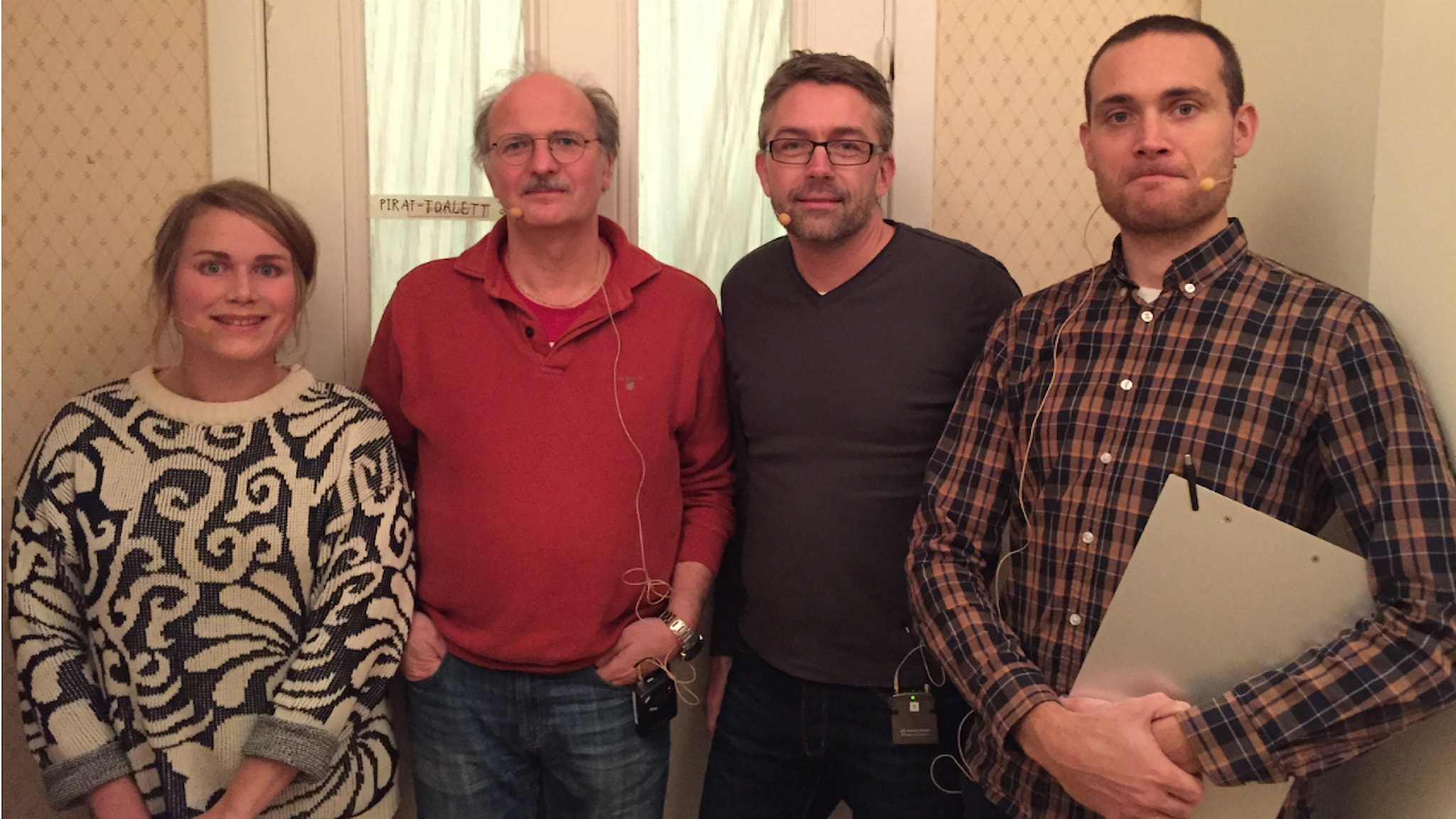 Karin Gyllenklev, Stefan Jansson, Tomas Brodin, Jesper Rönndahl. Foto: Nils Svennem Lundberg