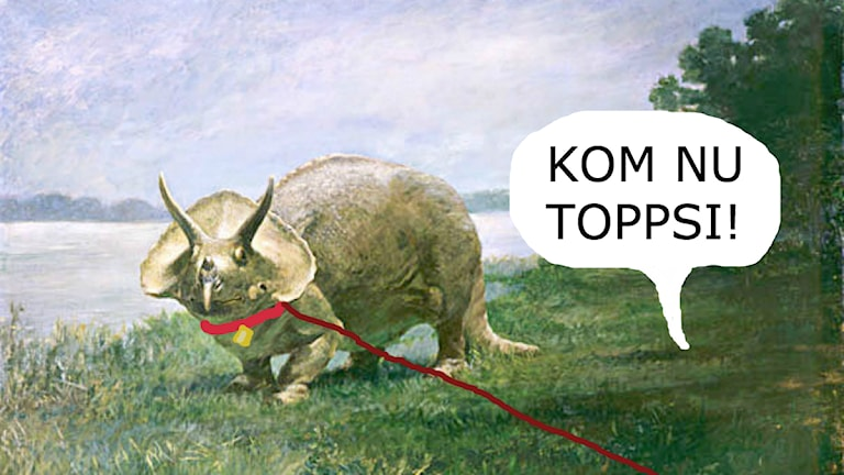 Promenad med triceratops. Foto: Public Domain