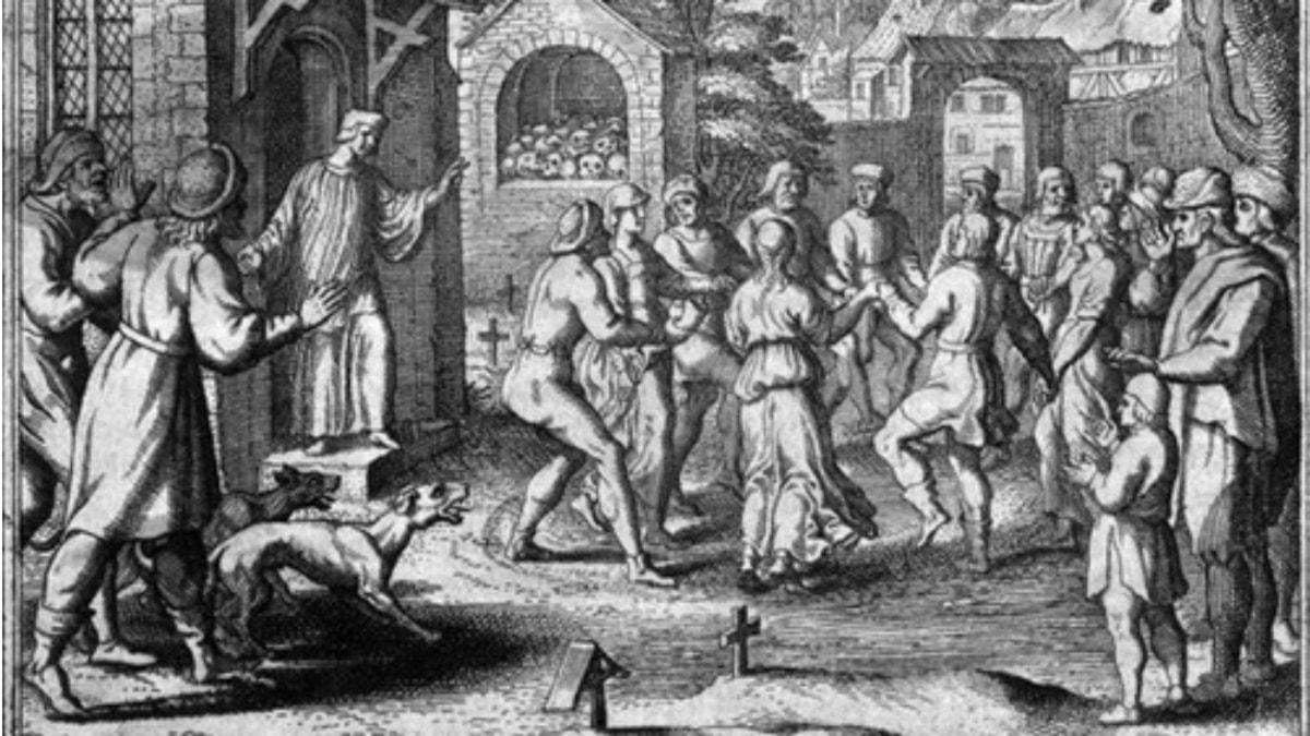 Danspesten 1518. Bild: Public Domain