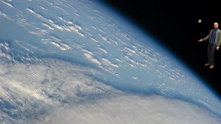 Jesper räddar jorden genom att åka till rymden. Bild: NASA/SR