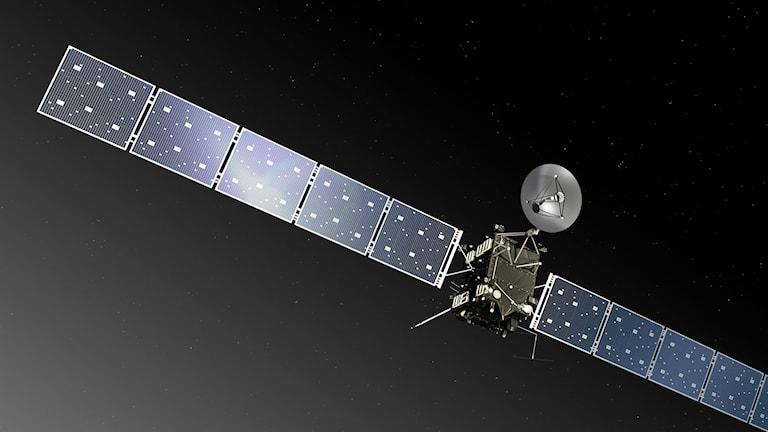 Bild på rymdsonden Rosetta. Foto: ESA, C.Carreau/TT