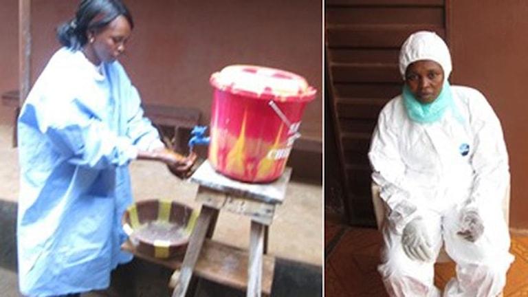 Sjuksköterskan Aminata Alpha Bangura sökte efter ebolasjuka i Freetown