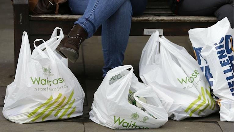 Plastpåsar från butiker