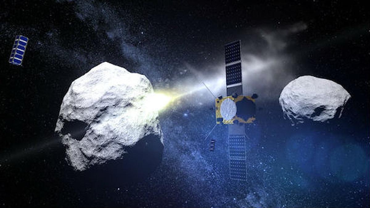 Satellit mellan meteoriter