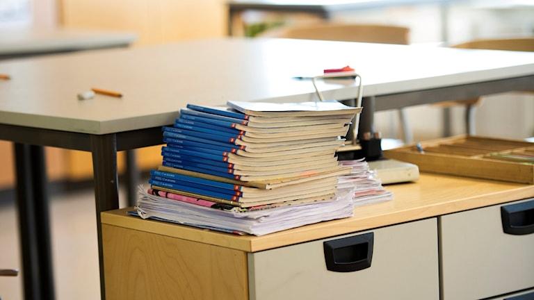 klassrum med böcker. Foto: TT