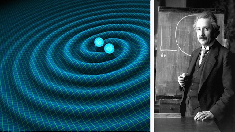 Montage gravitationsvågor och Einstein