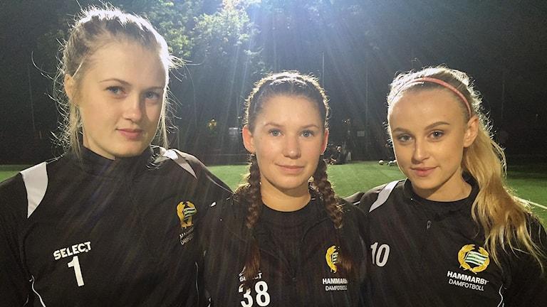 Felicia Hållström, Sara Lindström och Evita Bodare