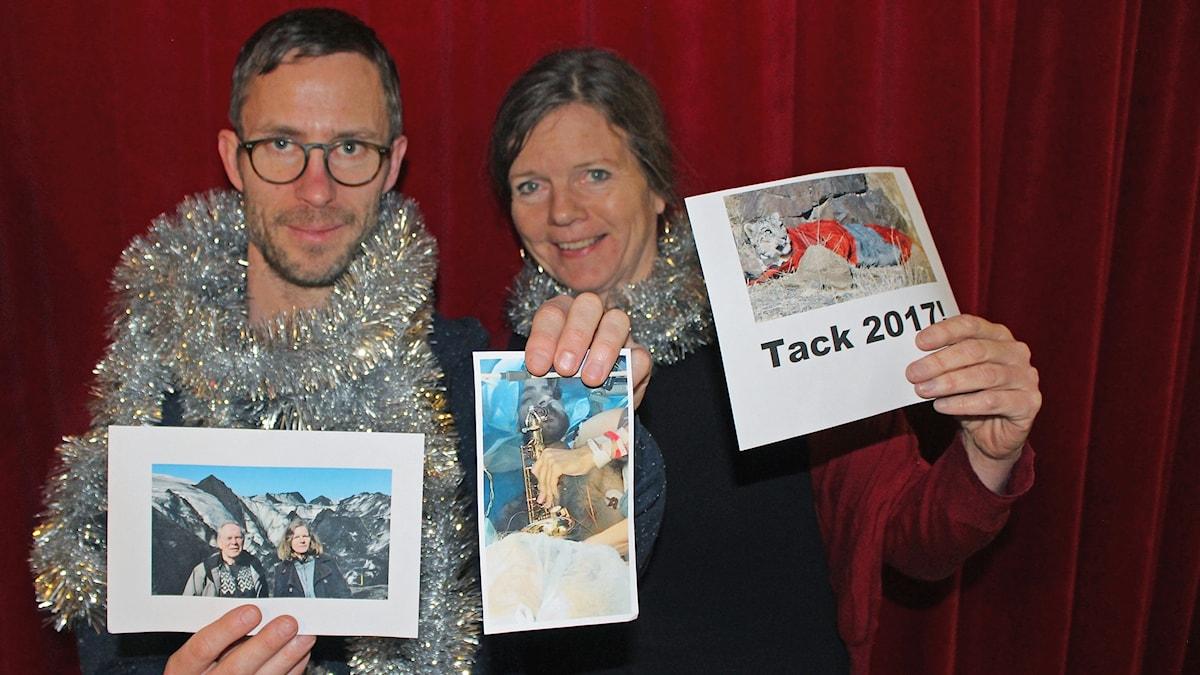 Björn Gunér och Lena Nordlund med några nyhetsbilder från 2017