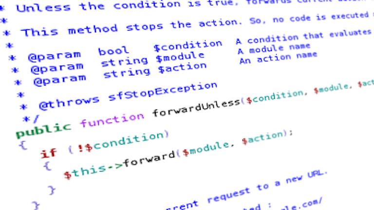 Skärmbild av mystisk kod i datorn