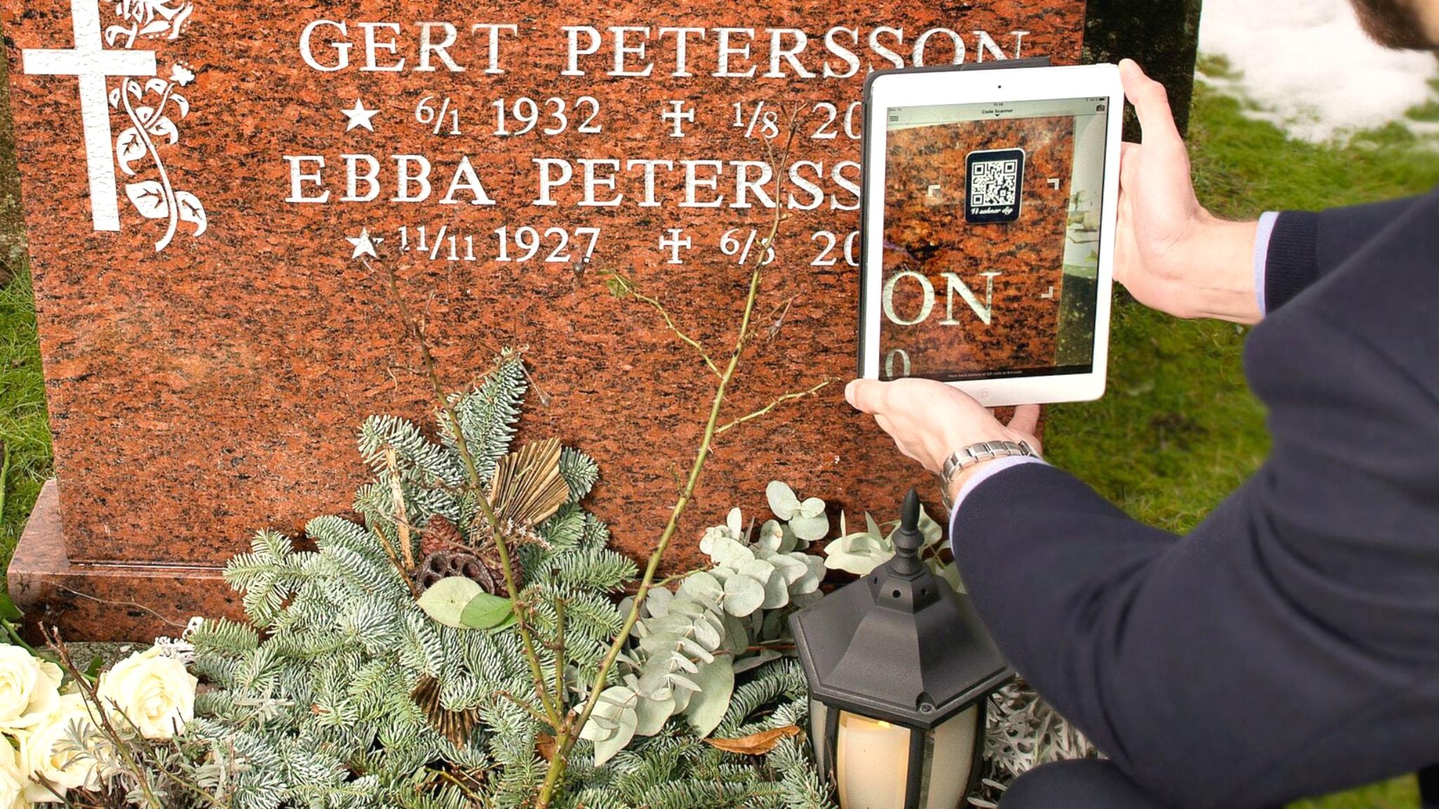 Digital kod på gravstenen ger dig den dödes livsberättelse