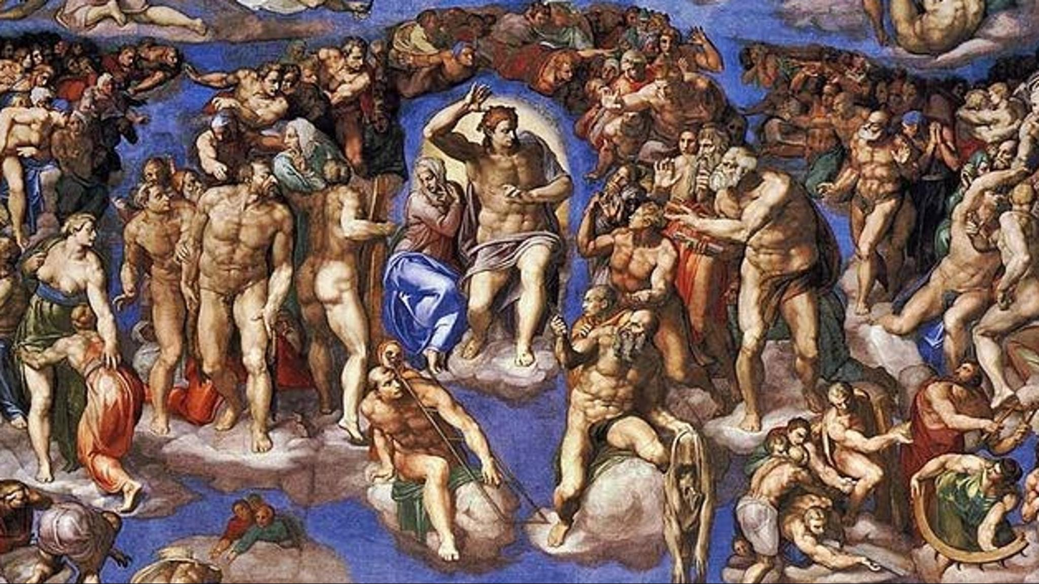 Kommer Jesus återuppstå år 2036? Yttersta domen är även namnet på en fresk i Sixtinska kapellet, utförd av Michelangelo Buonarroti 1534–1541.
