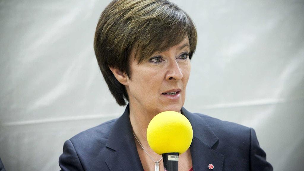 Mona Sahlin, nationell samordnare mot våldsbejakande extremism. Foto: Johan Ljungström/SR