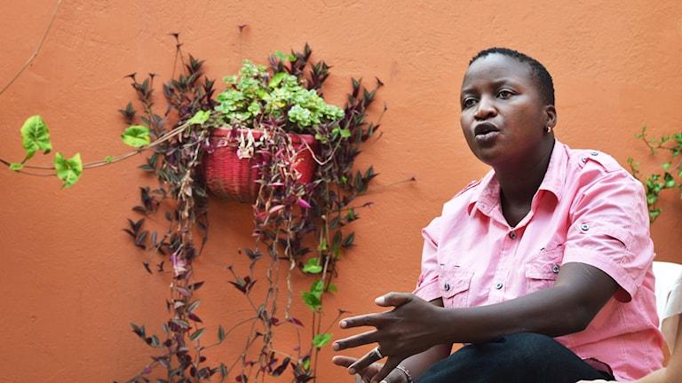 Sandra Ntebi riskerar att drabbas av ny antigaylag. Foto: Frida Svensson
