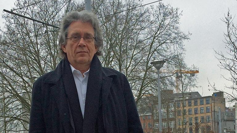 Pierre Renversez från Pegida Vallonien-Bryssel. Foto: Alexandra Sandels/Sveriges radio