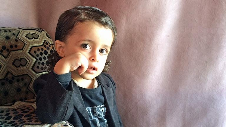 Rabbi Yehiya Youssefs yngste son Bin Clinton. Foto: Cecilia Uddén/SR