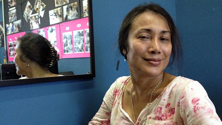 Sulastri, Malaysisk transaktivist. Foto: Åsa Furuhagen/SR