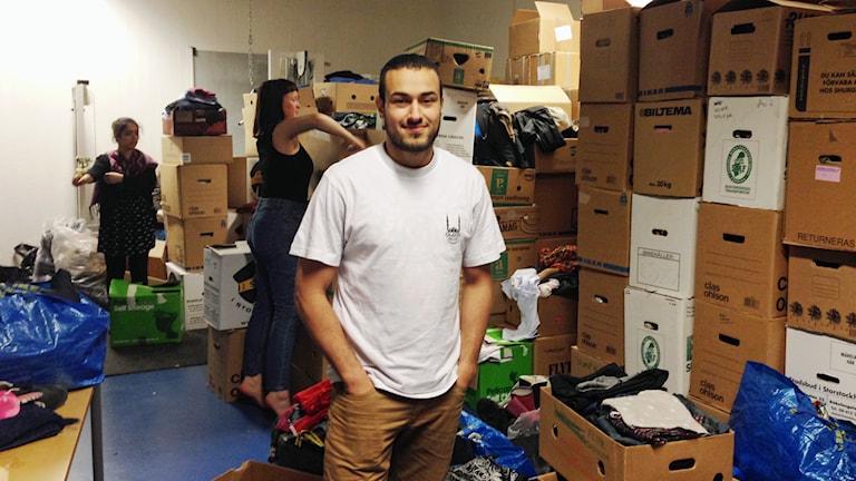 Али Хали/Ali Khalil координатор транзитного центра для размещения беженцев. Фото: Simon Sarnecki/Sveriges radio