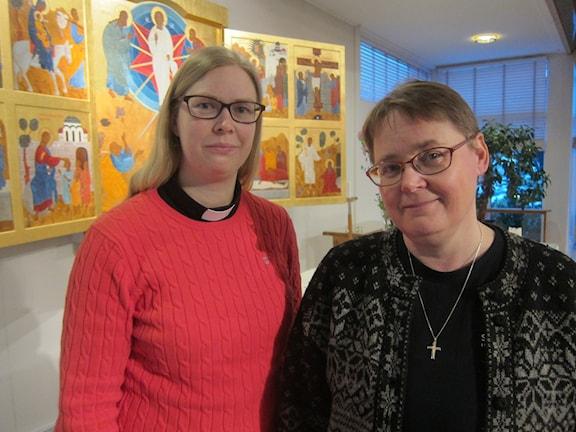 Johanna Berggren och Lena Ehrngren, präster i Skövde.