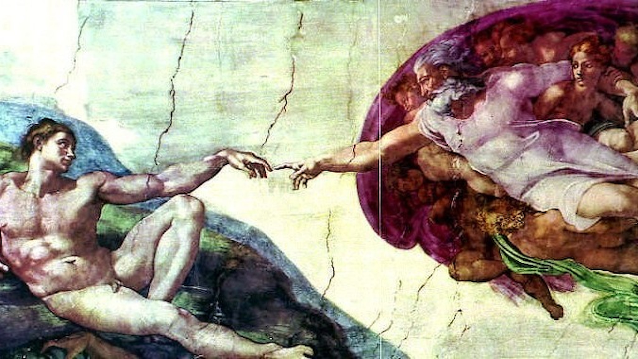 Michelangelos Adams skapelse.