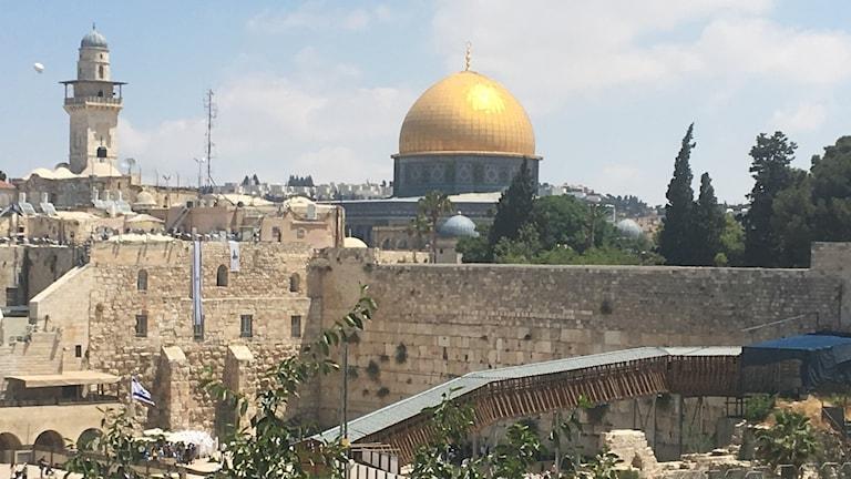 Västra muren och al-Aqsamoskén, Tempelberget i Jerusalem