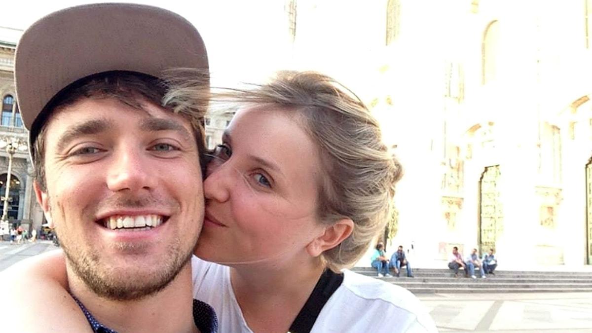 Mathias och Marie, ett ungt par som mördades i terrorattentatet mot Bataclan i Paris 13 november ifjol.