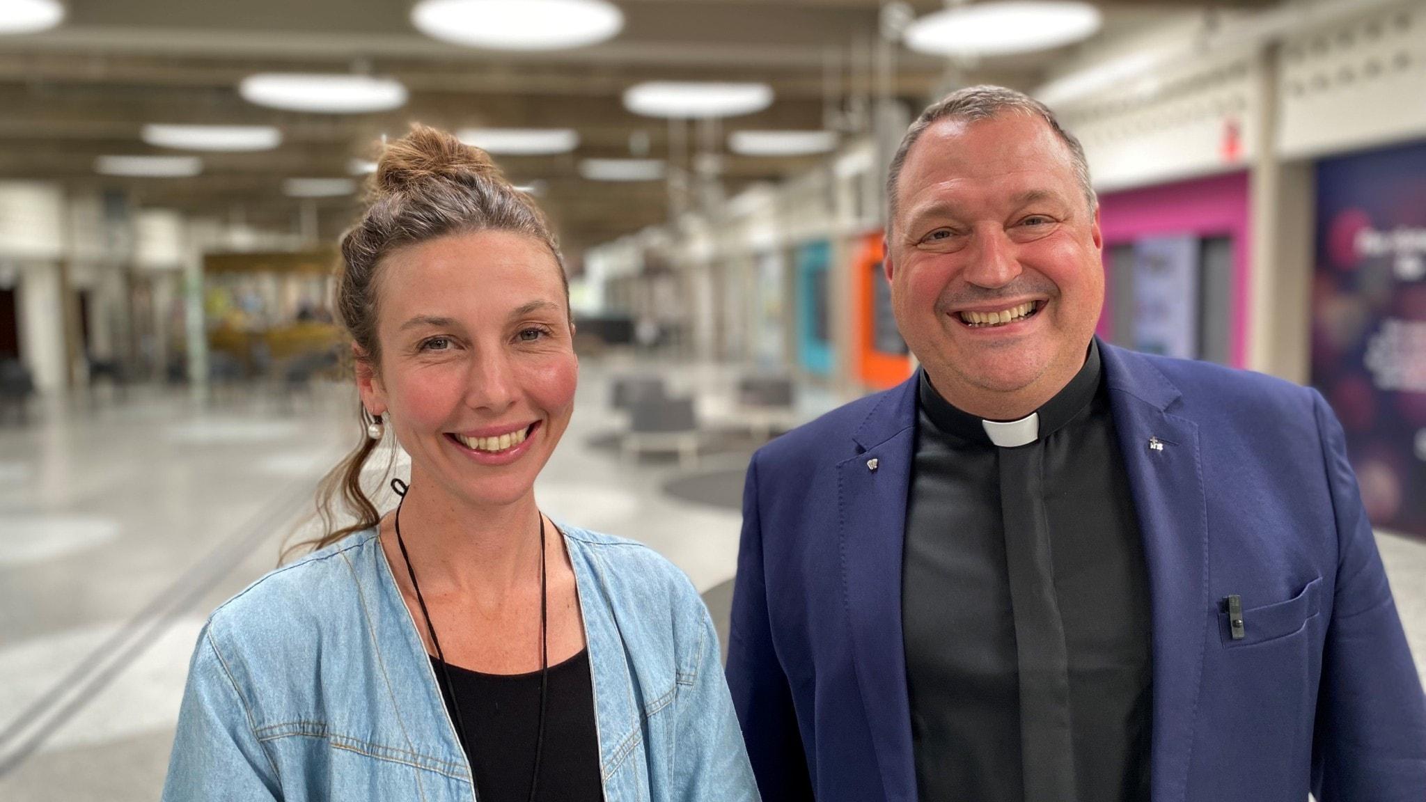 klimatpsykologen Kata Nylén och den katolske prästen Thomas Idergard