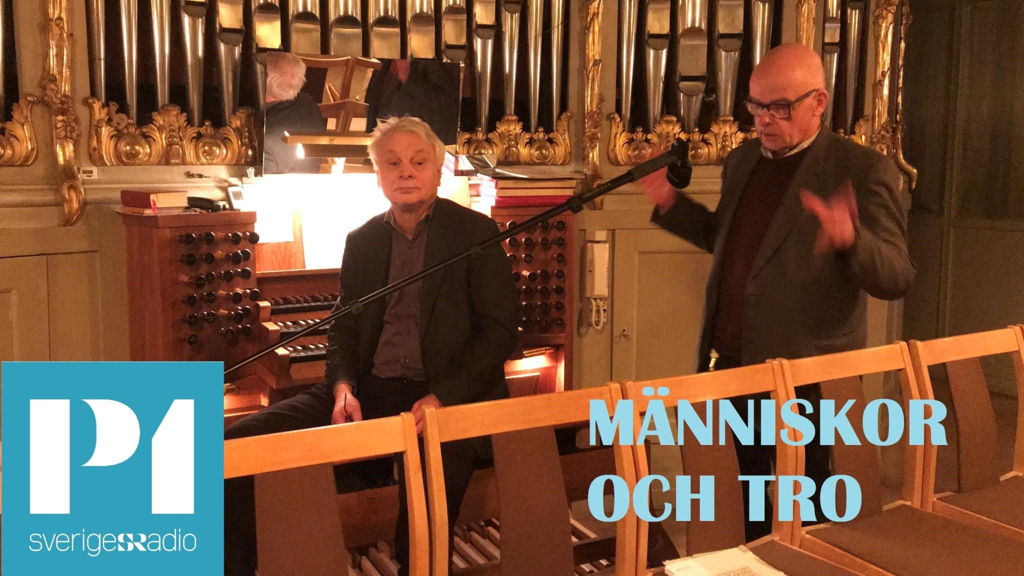 Organisterna P-O Larsson och Leif Johansson