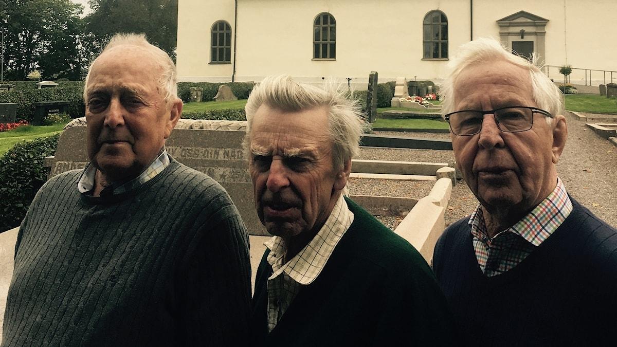 Karl Evert Larsson o Ingemar Nygren o Sven Jansson i Gillberga Foto Julia Wiraeus