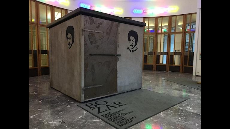 Dawits rekonstruerade fängelsecell finns nu i Bryssel