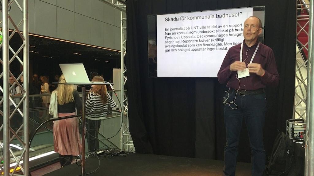 Mats Amnell föreläser om offentlighetsprincipen