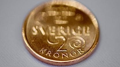 Ett mynt. 2 kronor