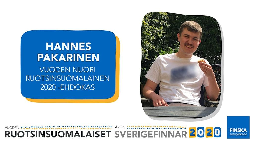 Hannes Pakarinen är nominerad till utmärkelsen Årets Unga Sverigefinne 2020.