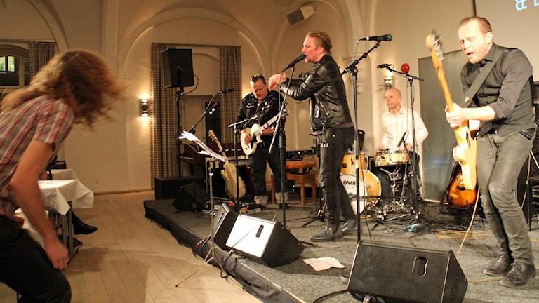 SverigeFinnarna ex Eskilstuna Boys (Heikki Kiviaho, Hanu Kiviaho, Markus Fagervall, Harri Mänty). Foto: Noora Holm/SR