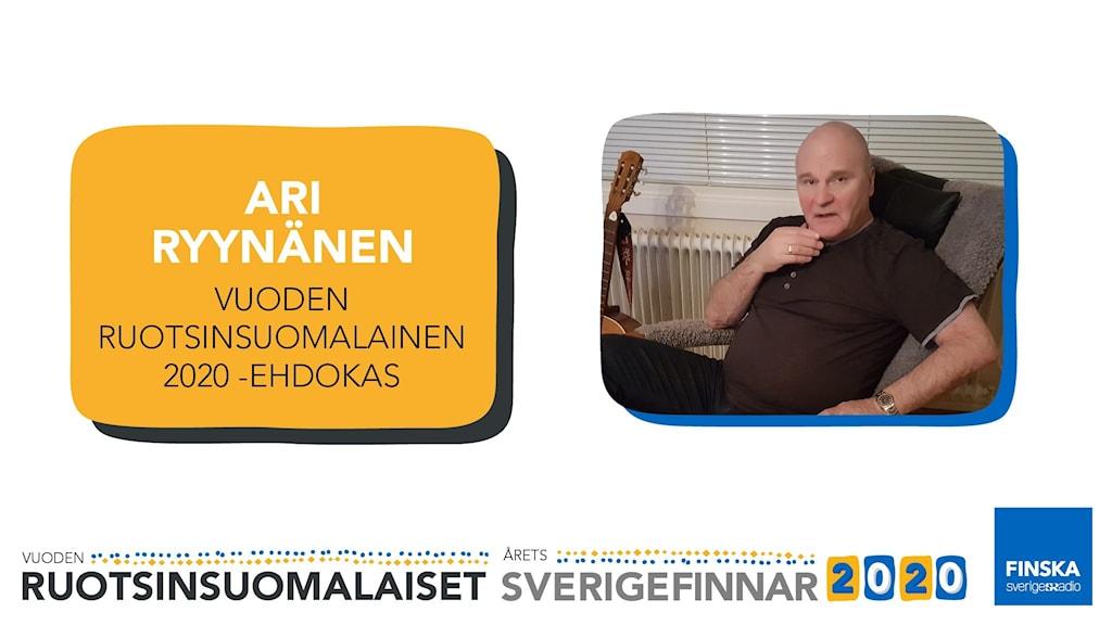 Ari Ryynänen är nominerad till Årets Sverigefinne 2020.