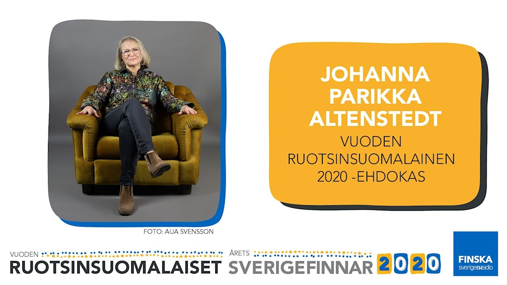 Johanna Parikka Altenstedt är nominerad till Årets sverigefinne 2020.