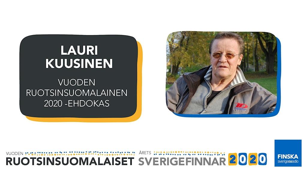 Lauri Kuusinen är nominerad till Årets sverigefinne 2020.