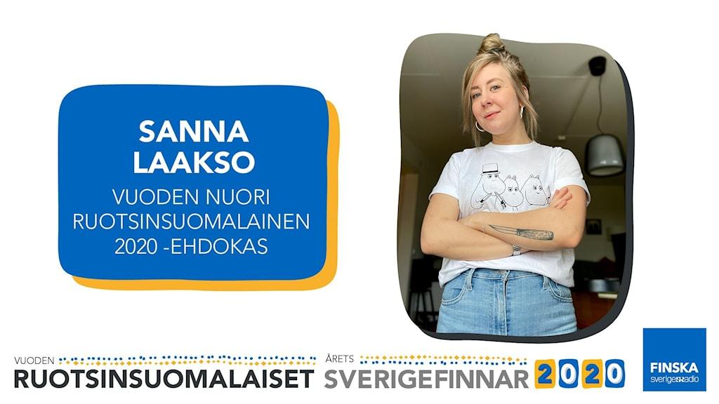 Sanna Laakso är nominerad till utmärkelsen Årets unga sverigefinne 2020.