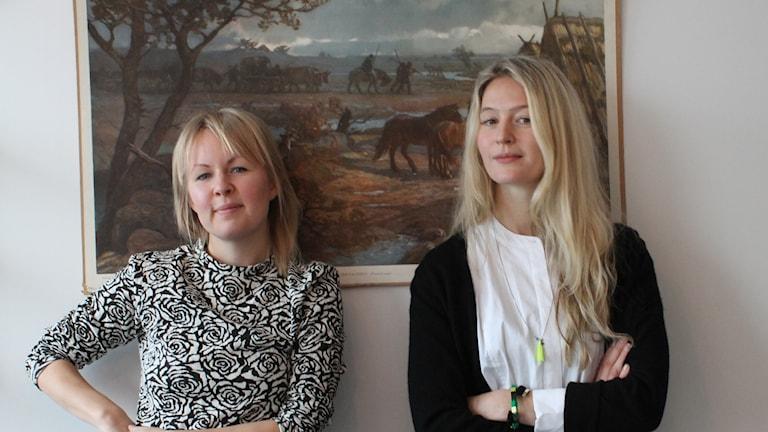 Lina Puranen ja Maija Waris ovat Finnomani sarjan luojat sekä nyt ehdolla vuoden nuoreksi Ruotsinsuomalaiseksi.