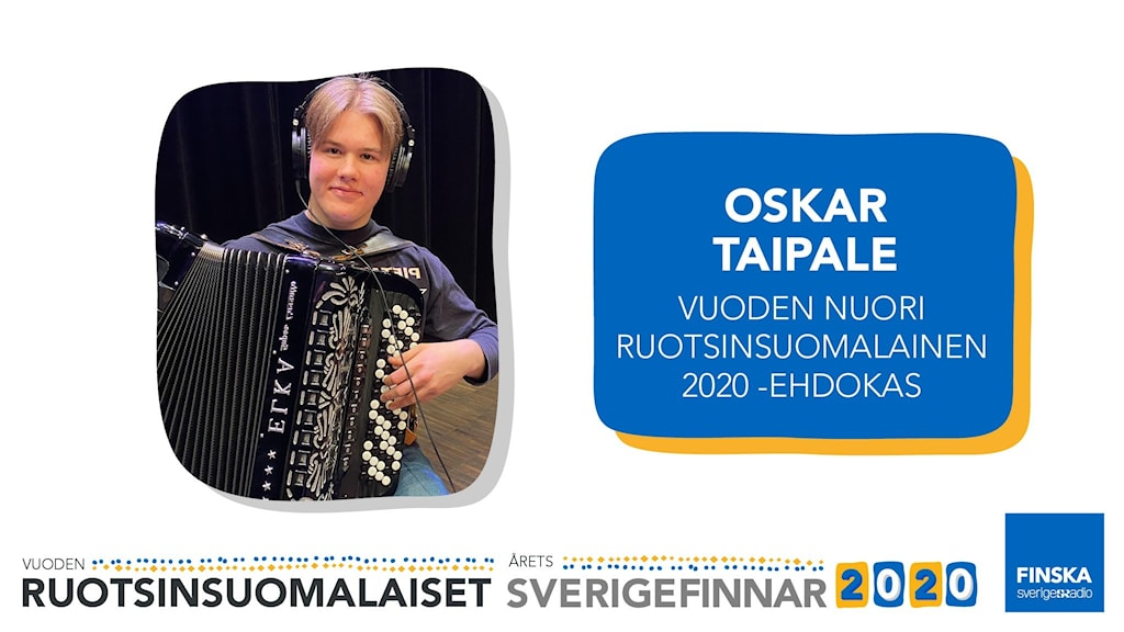 Oskar Taipale är nominerad till utmärkelsen Årets Unga Sverigefinne 2020.