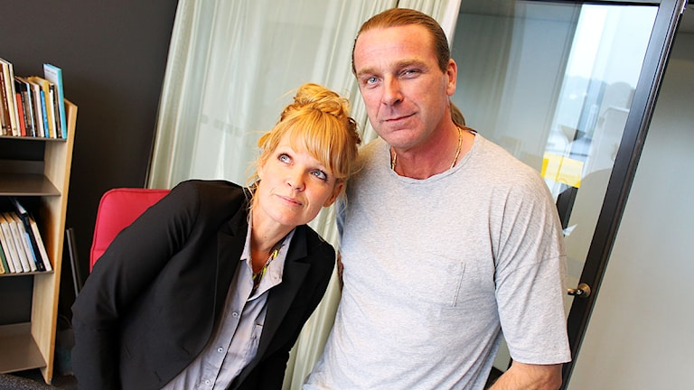 Belinda Olsson och Patrik Sjöberg. Foto: Ronnie Ritterland / Sveriges Radio