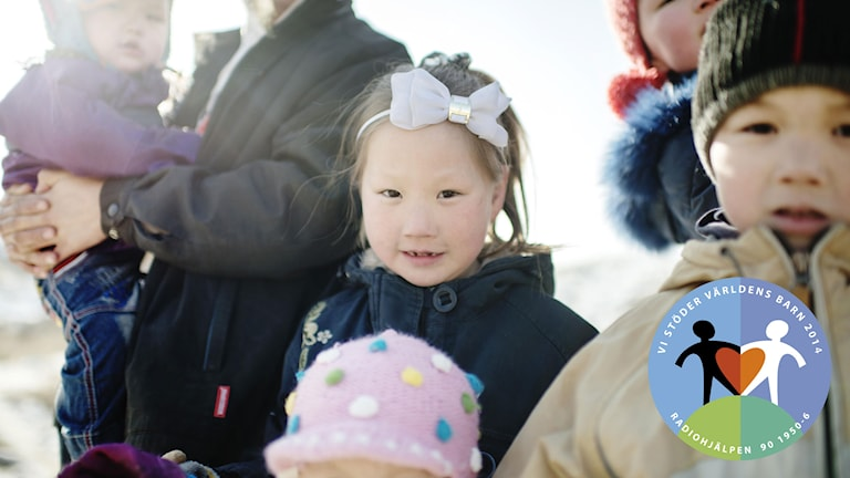 En grupp barn hos SOS Barnbyar i Mongoliet. Foto: Maja Brand.