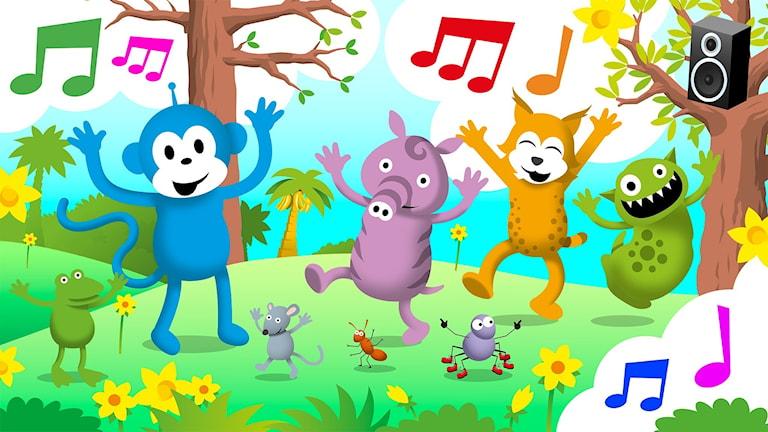 Ny låt: Vi dansar träd - Radioapans danssång