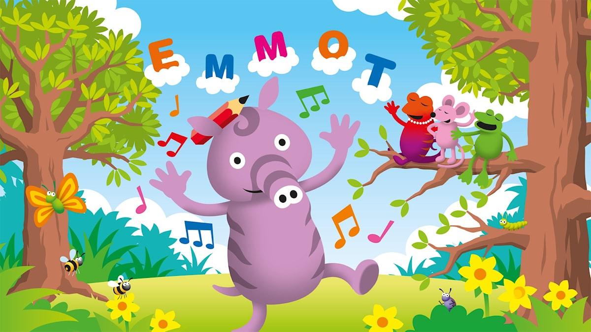 Det är jag som är Emmot. Illustration: Patrik Lindvall.