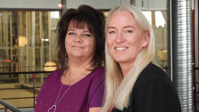 Anneli Johansson och Lotta Löfgren. Foto: Janne Mårdberg/Sveriges radio.