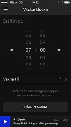 Väckarklocka i Sveriges Radio Play