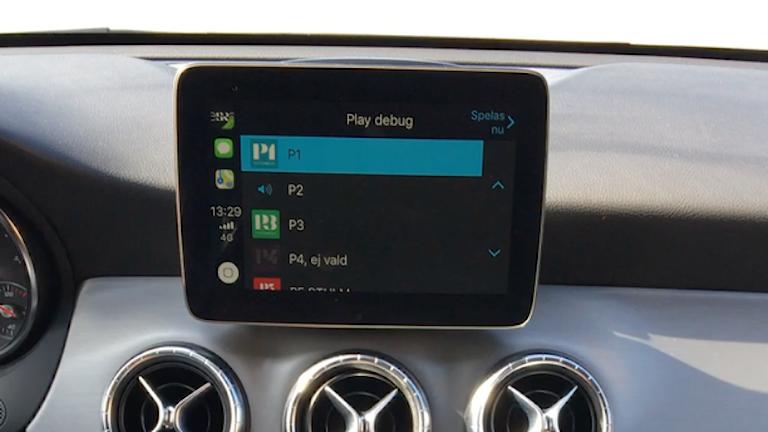 carplay skärm i bilen